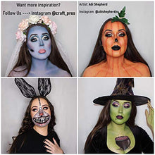 Load image into Gallery viewer, Craft Pro Face Paint - Vegan + Cruelty Free. Sensitive Skin Approved. Includes Guidebook, Applicators, Stencils. Easy ON Easy Off (Water Activated Body Paint)