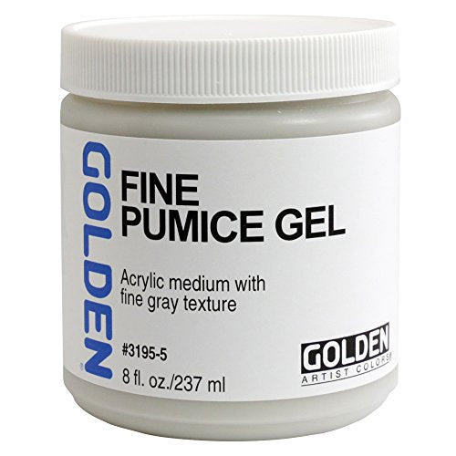Golden Acryl Med 8 Oz Fine Pumice Gel - White