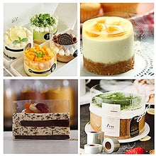 Load image into Gallery viewer, Cake Collars Transparent Acetate Sheets Roll(4.7 x 394inch),Clear Cake Strips, Edge Cake Tools for Chocolate Mousse Baking, Cake Decorating