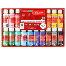 Load image into Gallery viewer, Craft Smart Acrylic Paint Set Value Pack, 16 Colors – All-Purpose Paint Kit for Beginners and Professionals