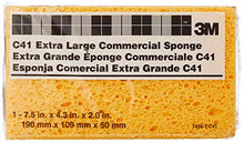 "Load image into Gallery viewer, 3M Extra Large Commercial Sponges C41 7456-T, 7-1/2"" x 4-3/8"" x 2-1/16"""