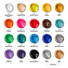 Load image into Gallery viewer, Arteza Outdoor Acrylic Paint, Set of 20 Colors/Bottles 2 oz./59 ml. Rich Pigment Multi-Surface Paints, Art Supplies for Easter Gift, Rock, Wood, Fabric, Leather, Paper, Crafts, Canvas