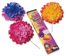 "Load image into Gallery viewer, PACON PAC59600 Colorfast Tissue Flower Kit, 10"""", Assorted Colors"""