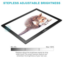 Load image into Gallery viewer, LitEnergy 24.3 Inch Diagonal A3 LED Portable Light Table for Tracing