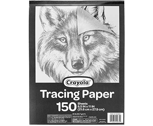 "Crayola Tracing Paper 8 1/2"" X 11"", Great for Light Up Tracing Pad, Gift, 150Count, Multicolor, Model:"