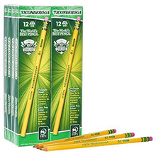 Load image into Gallery viewer, TICONDEROGA Pencils, Wood-Cased, Unsharpened, Graphite #2 HB Soft, Yellow, 96-Pack (13872)