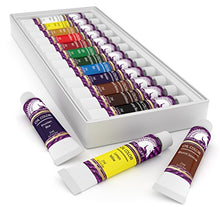 Load image into Gallery viewer, Oil Paint Set - 21ml x 12 - Oil-Based Paints in Tubes - Artists Quality Art Colors - Professional Painting Supplies - MyArtscape