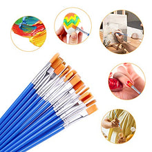 Load image into Gallery viewer, DECYOOL 100 Pcs Flat Paint Brushes,Small Brush Bulk for Detail Painting,Nylon Hair Brushes Acrylic Oil Watercolor Fine Art Painting for Kids,Children,Students,Starter,Teens, Adults, Artist