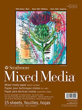 "Load image into Gallery viewer, Strathmore 400 Series Mixed Media Pad, 9""x12"", White, 15 Sheets"