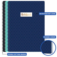 "Load image into Gallery viewer, A4 Notebooks/Journal - 3 Pack Lined A4 Ruled Notebook Journal with Premium Paper, Wirebound, 9"" × 11.75"", Soft Ring, Easily Tear Off"