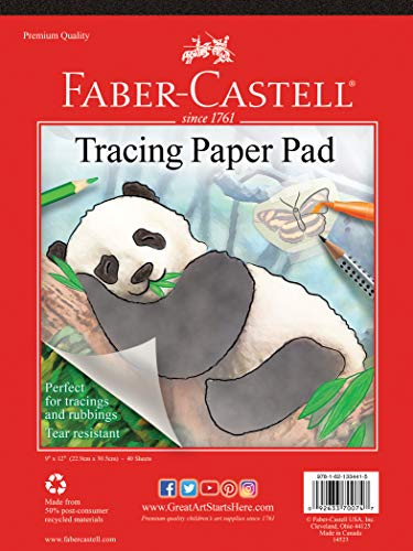 Faber-Castell Tracing Paper Pad - 40 Sheets (9 x 12 inches)