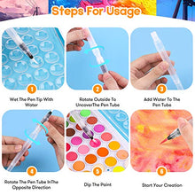 Load image into Gallery viewer, Watercolor Paint Set, Taotree 48-Color Watercolors Cake & a Brush a Refillable Water Brush Pen, Portable Water Colors Paints Set for Kids Children Students Adults Beginner Artists Painting Supplies
