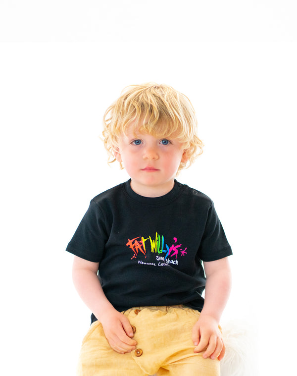 Fat Willy's Newquay toddler t-shirt in black