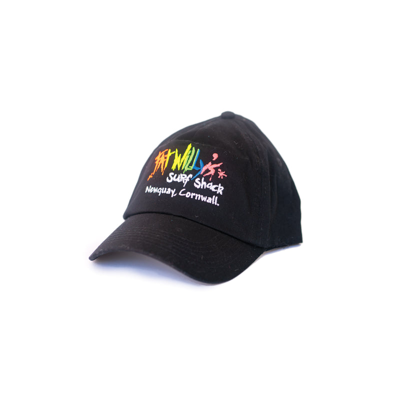 Fat Willy's Surf Shack Newquay cap peaked hat in black
