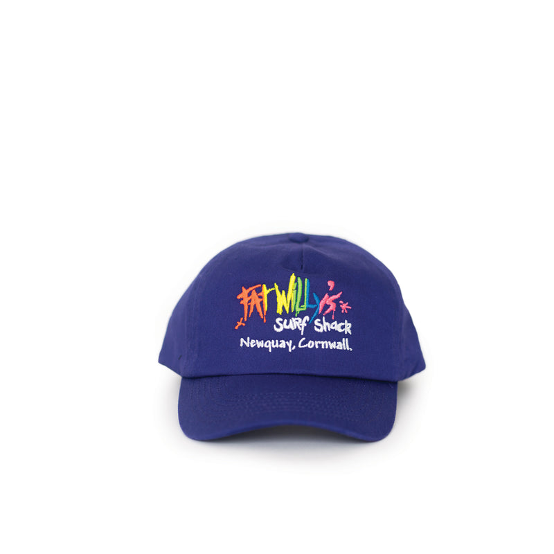 Fat Willy's Surf Shack Newquay Kids cap hat in purple