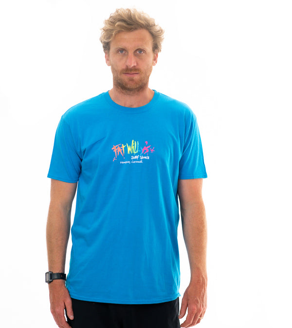 Fat Willy's Newquay adult t-shirt in Sapphire Blue