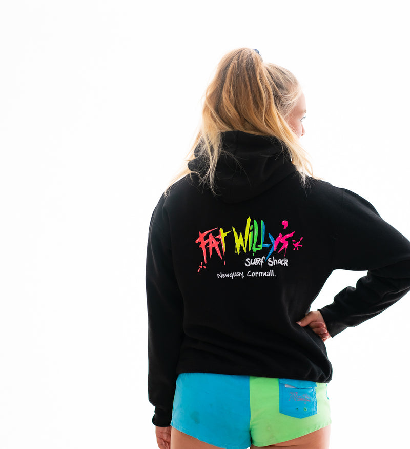 fat willy's hoodie newquay black