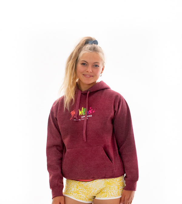 Fat Willy's Newquay adult hoodie in wine red