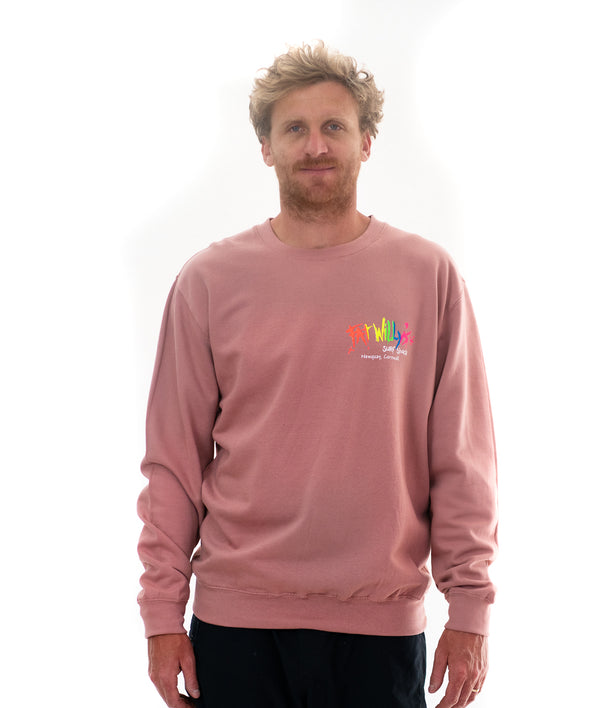 Adult Crew Sweatshirt in Dusty Pink