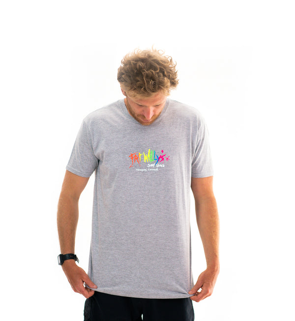 Fat Willy's Newquay adult t-shirt in grey