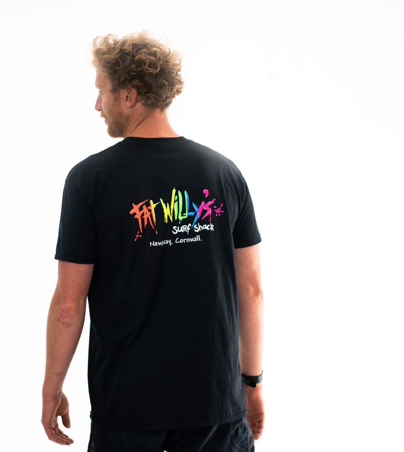 Fat Willy's Newquay adult t-shirt in Black