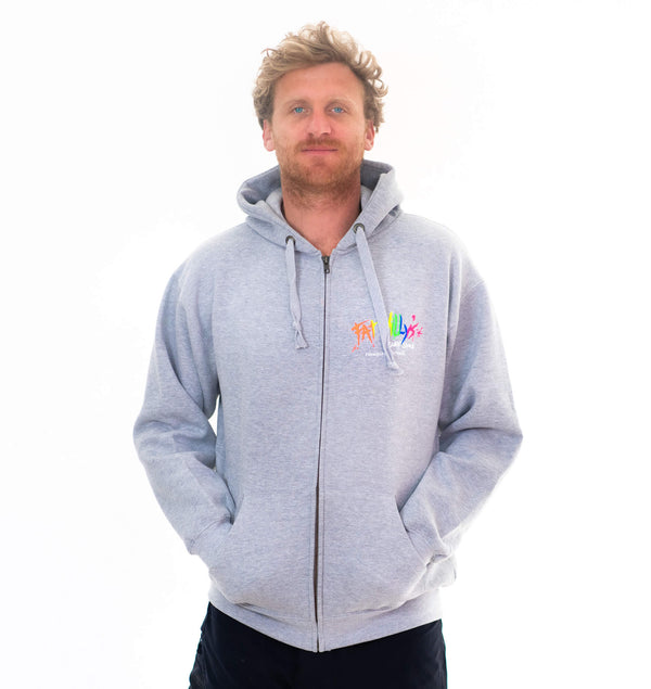 Fat Willy's Newquay Adult Zip Heather Grey