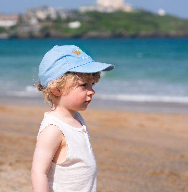 Fat Willy's Newquay baby hat cap in blue