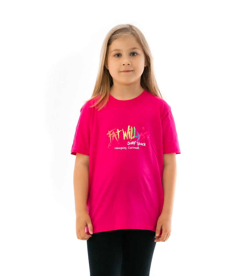 Fat Willy's Newquay Kids t-shirt in Pink