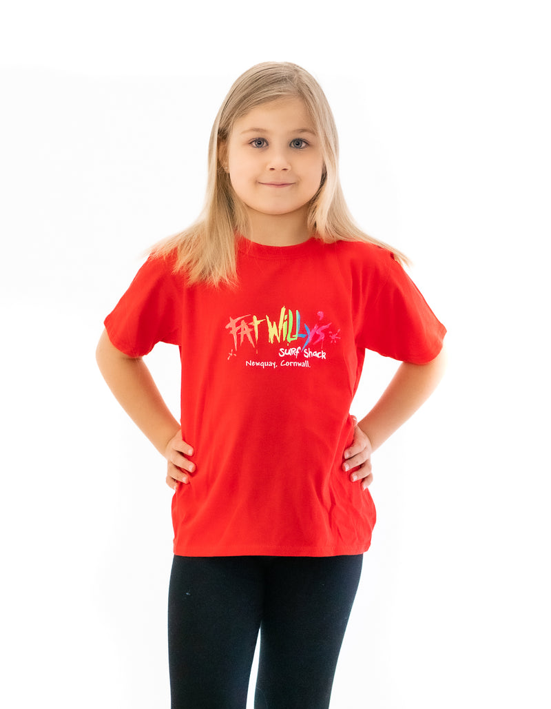 Fat Willy's Newquay Kids t-shirt in Red