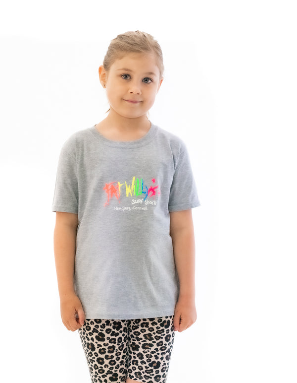 Fat Willy's Newquay Kids t-shirt in Grey