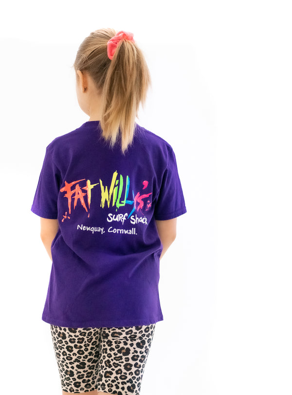Fat Willy's Newquay Kids t-shirt in Purple