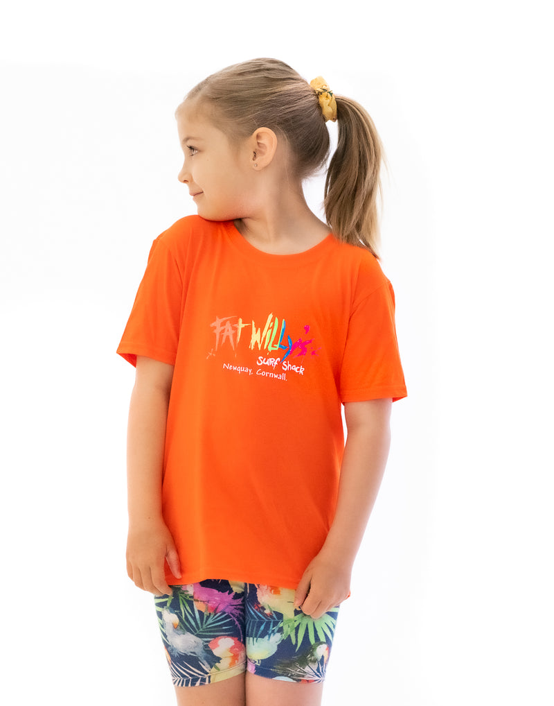 Fat Willy's Newquay Kids t-shirt in Orange
