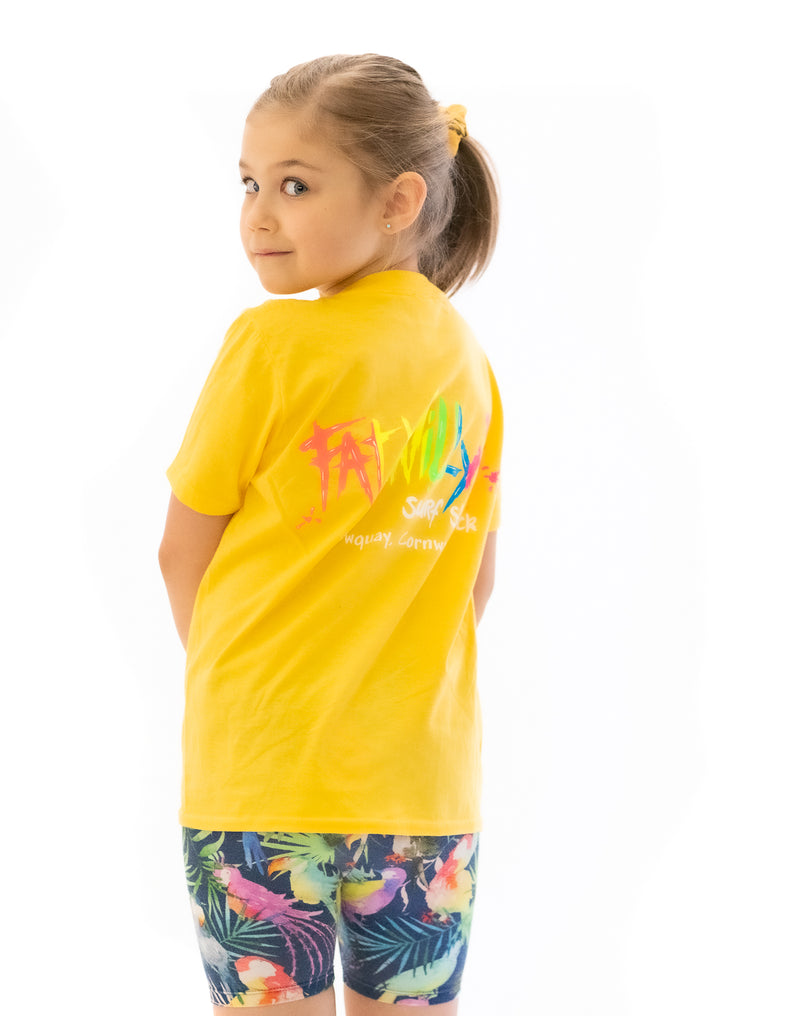 Fat Willy's Newquay Kids t-shirt in Yellow