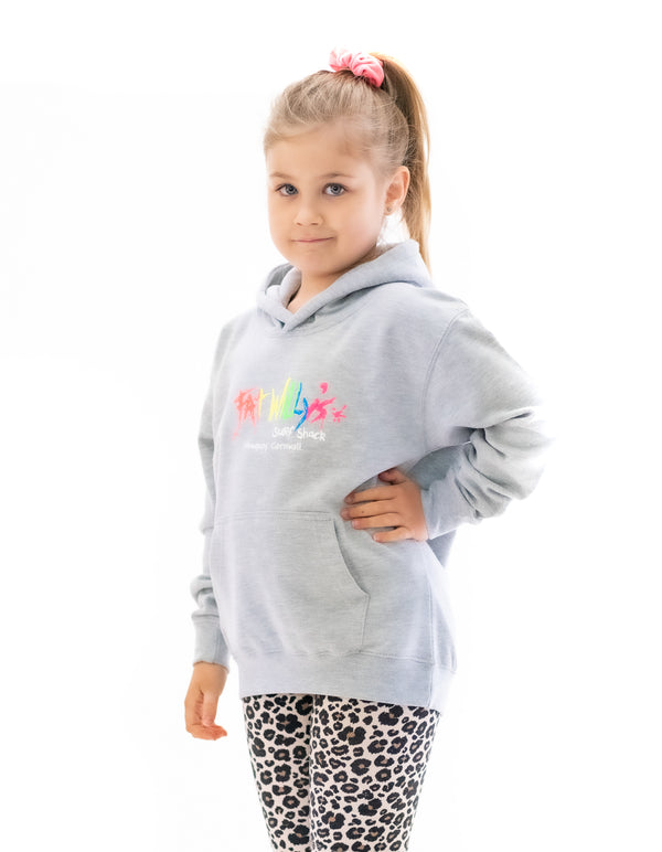 Fat Willy's Newquay Kids Hoodie in Sport Grey
