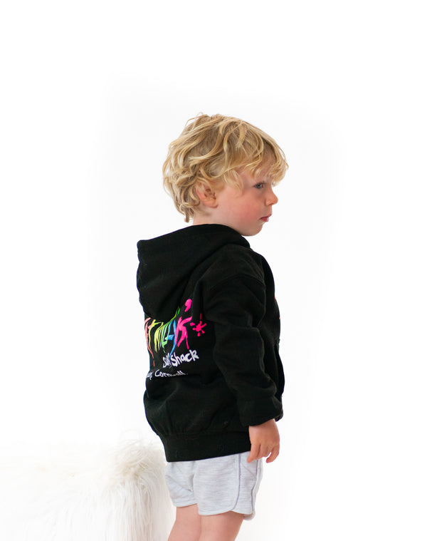 Fat Willy's Newquay toddler hoodie in black