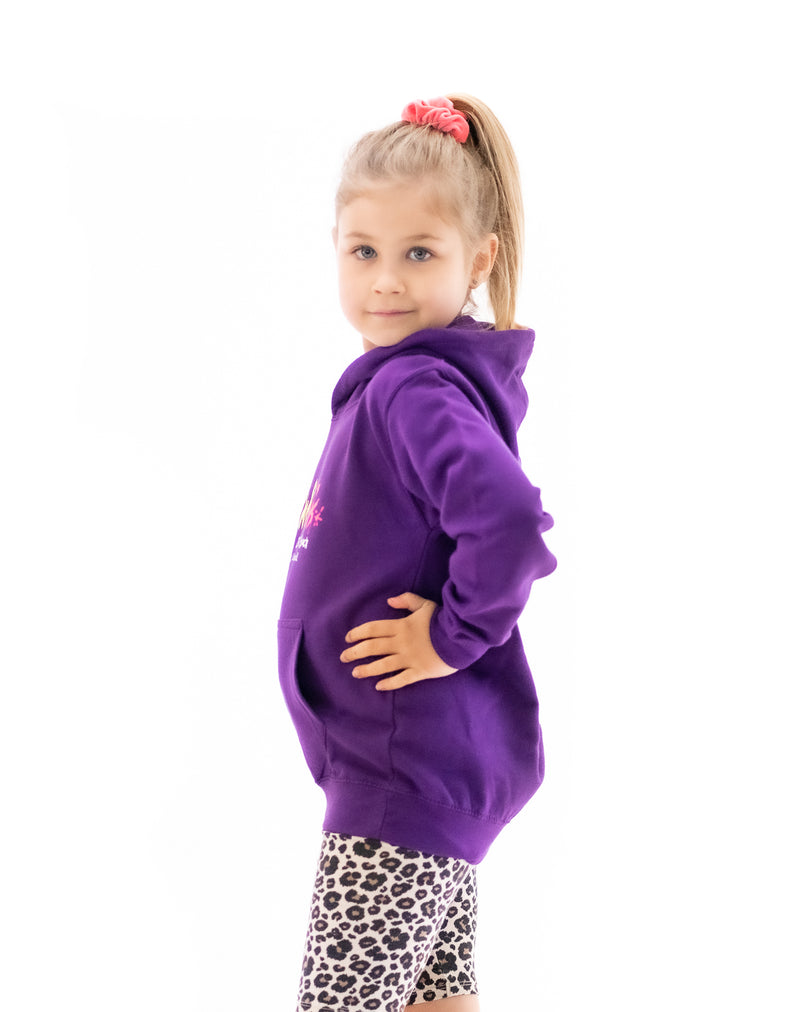 Fat Willy's Newquay Kids Hoodie in Purple