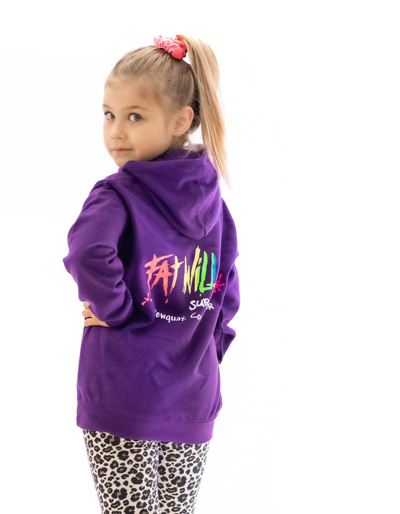 Fat Willy's Newquay toddler hoodie in purple