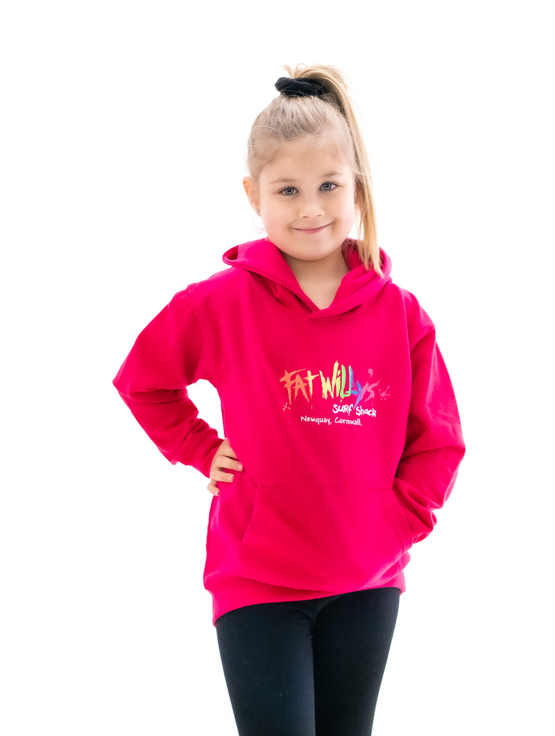 Fat Willy's Newquay toddler hoodie in pink