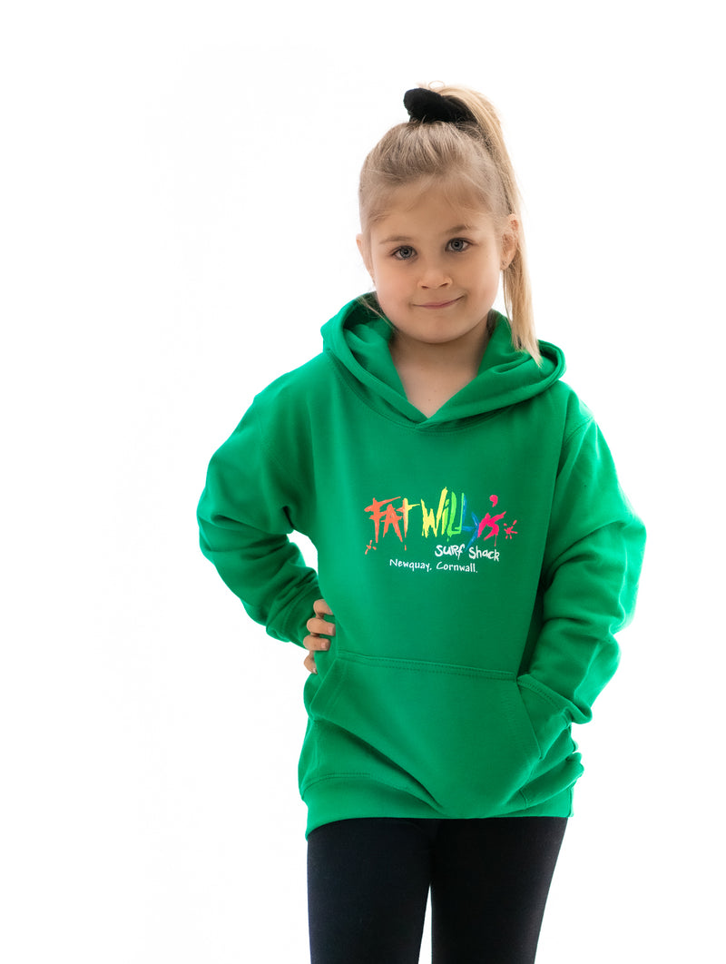 Fat Willy's Newquay toddler hoodie in green