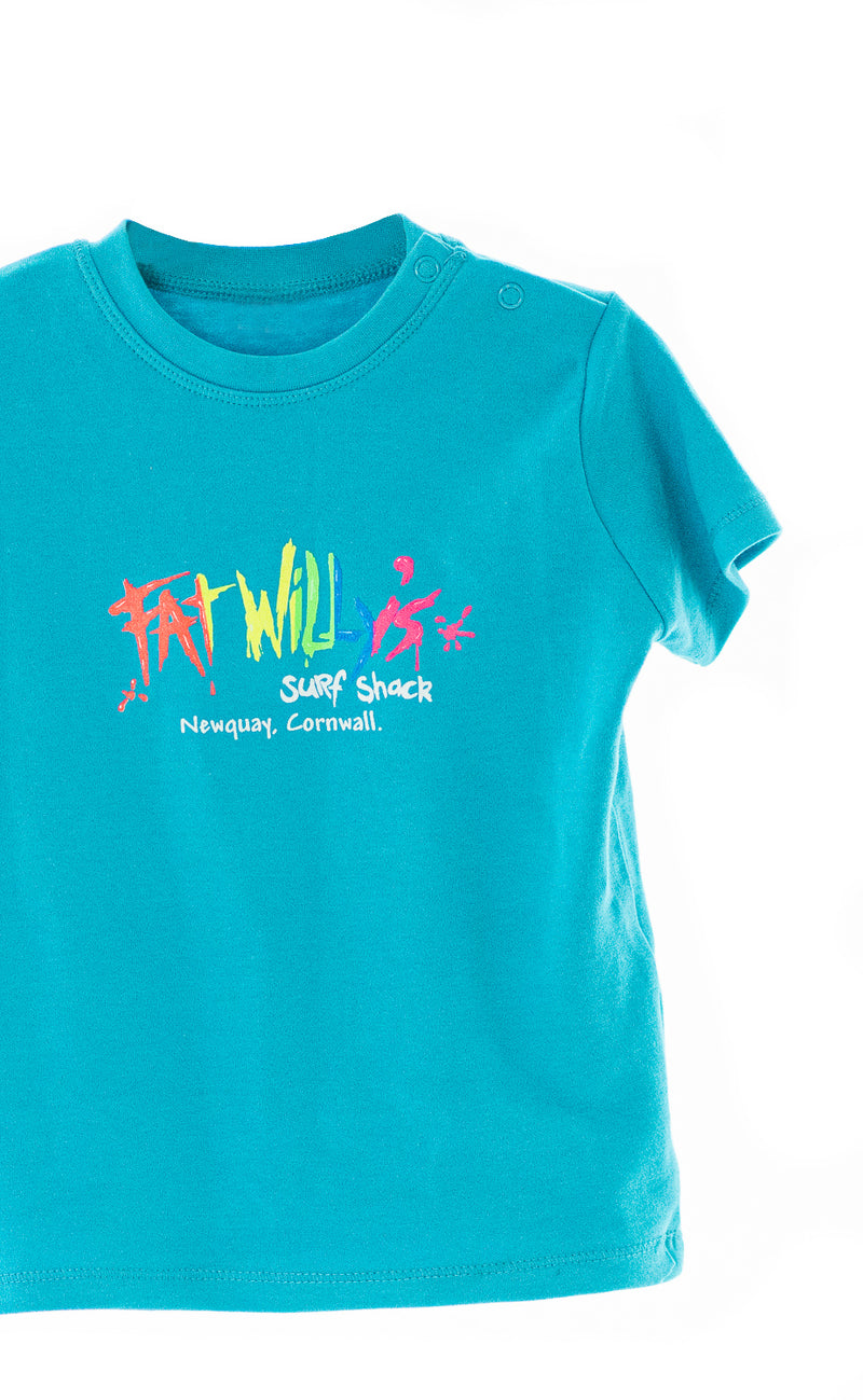 Fat Willy's Newquay toddler t-shirt in blue