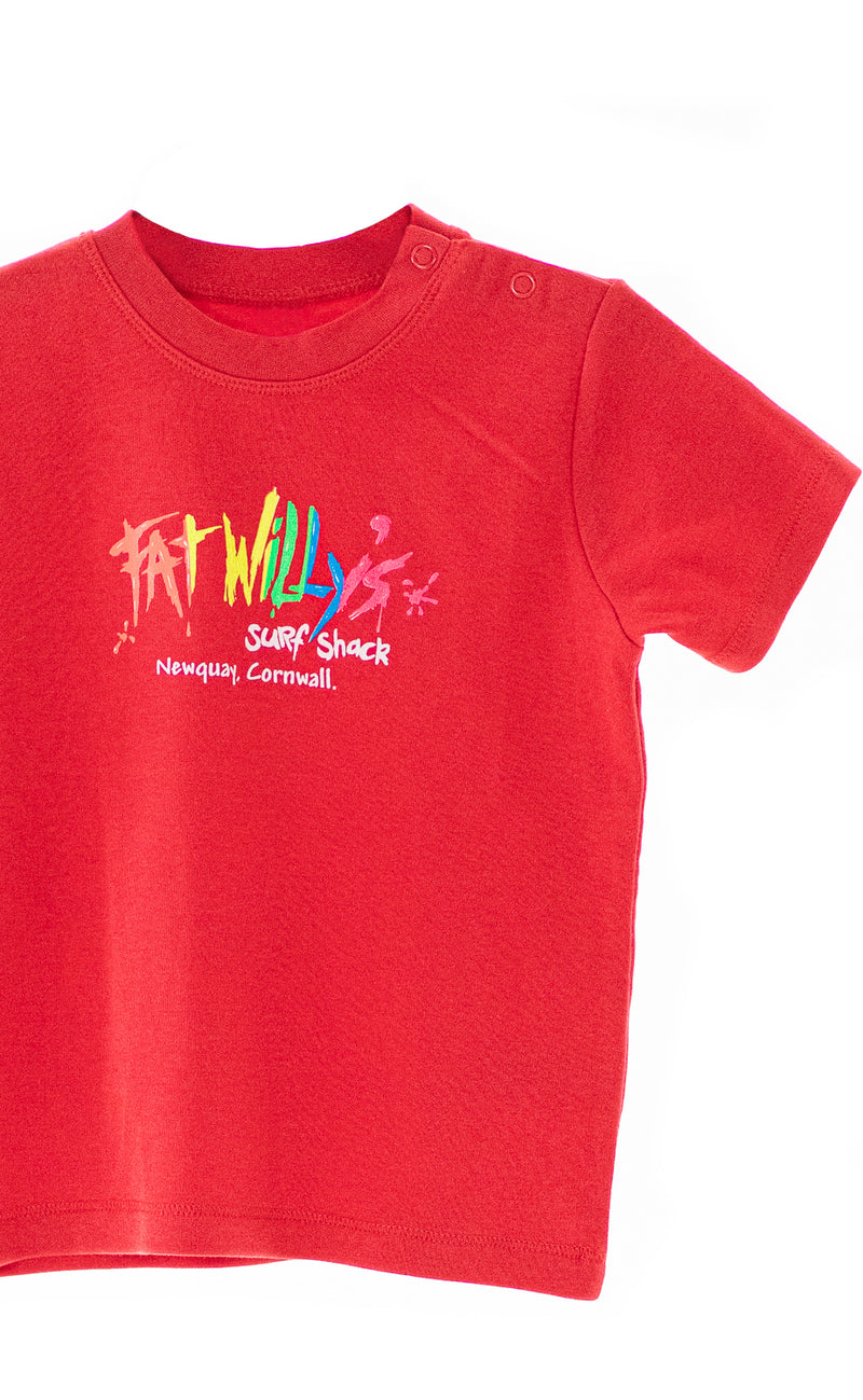 Fat Willy's Newquay toddler t-shirt in red