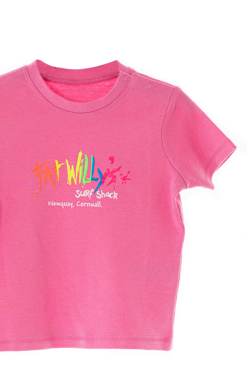 Fat Willy's Newquay toddler t-shirt in pink