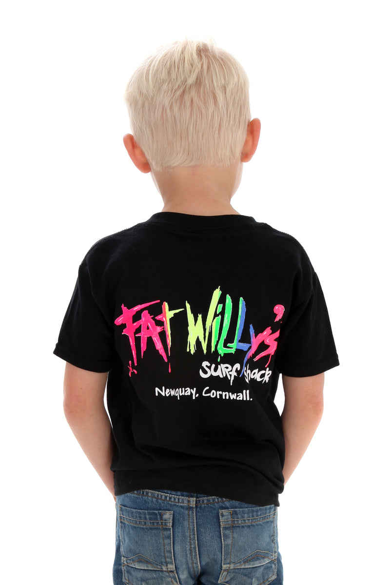 Fat Willy's Newquay Kids t-shirt in Black