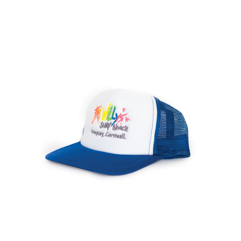 Fat Willy's Newquay Kids Trucker Cap in Blue