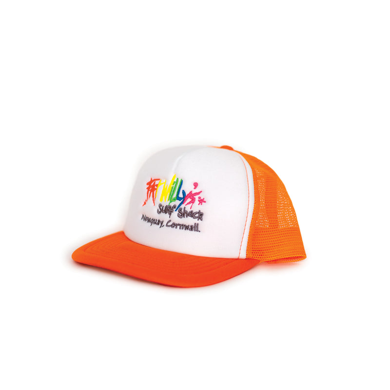 Fat Willy's Newquay Kids Trucker Cap in Orange