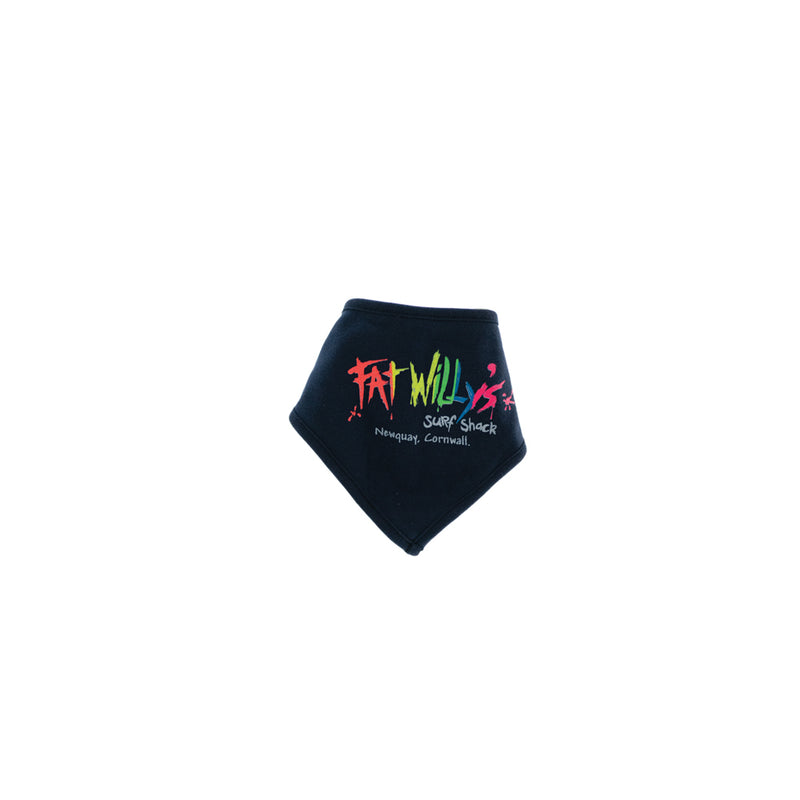 Fat Willy's Newquay baby bandana dribble bib in navy