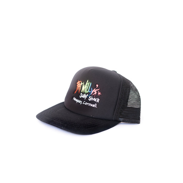 Fat Willy's Newquay trucker cap in black