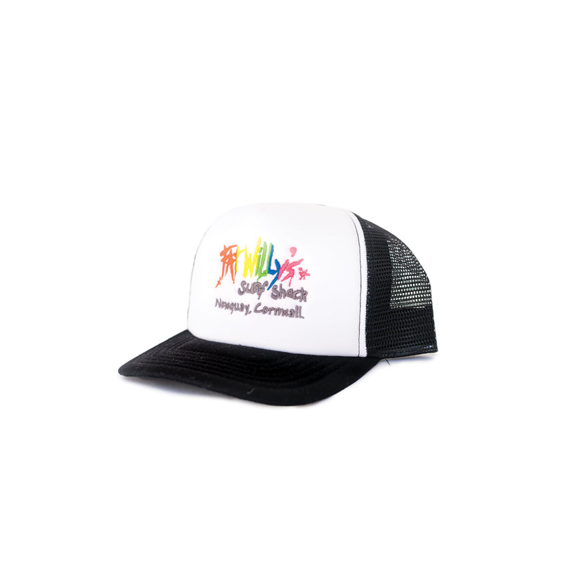 Fat Willy's Newquay Kids Trucker Cap in Black