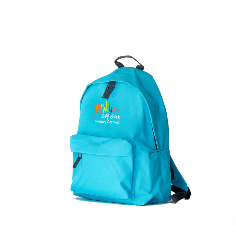 Fat Willy's Surf Shack Newquay backpack bag in turquoise blue