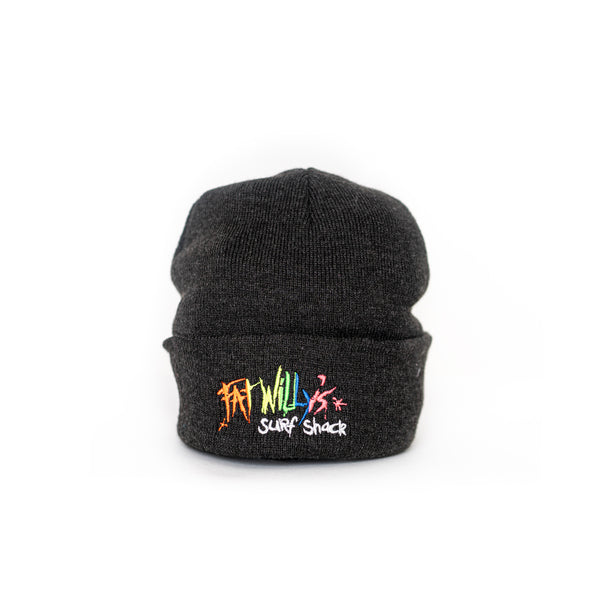 Fat Willy's beanie hat newquay grey